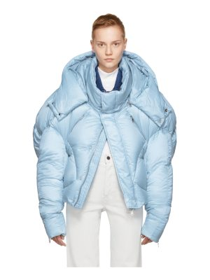 Chen Peng Exclusive Blue Short Quilted Puffer Jacket