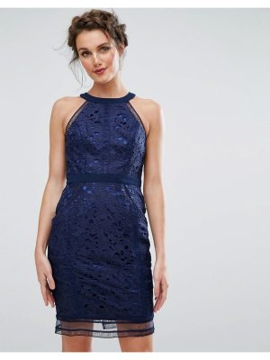 Chi Chi London cutwork lace pencil dress