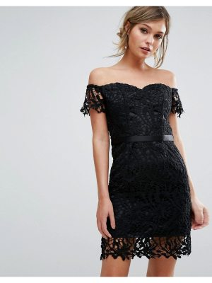 Chi Chi London lace bandeu mini dress with sweetheart neck
