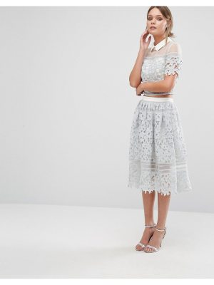 Chi Chi London Premium Lace Skirt Co-ord