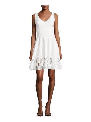 Chiara Boni La Petite Robe Lelia Eyelet-Hem A-Line Mini Cocktail Dress