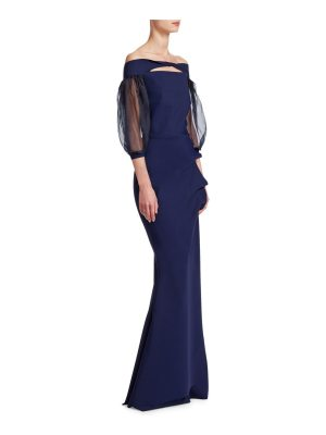 Chiara Boni La Petite Robe off shoulder mermaid gown