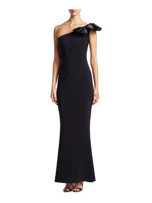 Chiara Boni La Petite Robe one-shoulder bow gown