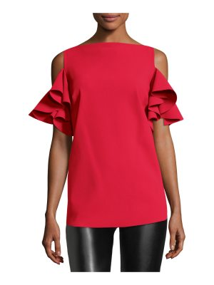 Chiara Boni La Petite Robe Tatina Ruffle Cold-Shoulder Top
