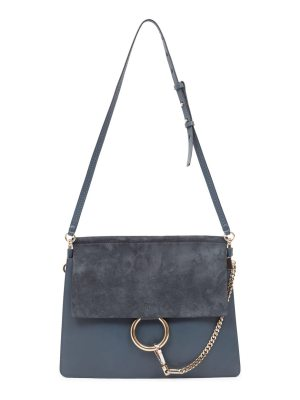 Chloe medium faye leather & suede shoulder bag