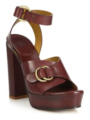 Chloe Kingsley Platform Leather Sandals