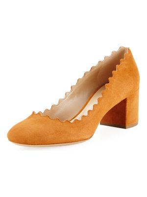 Chloe Lauren Scalloped Suede Pump