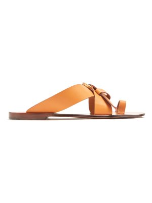 Chloe Nils leather flat sandals