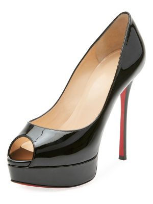 Christian Louboutin Fetish Peep-Toe Platform Red Sole Pump