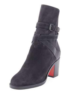 Christian Louboutin Kari Suede Red Sole Boots