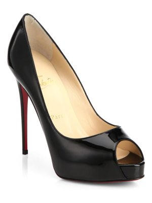 Christian Louboutin very privé peep-toe patent leather pumps