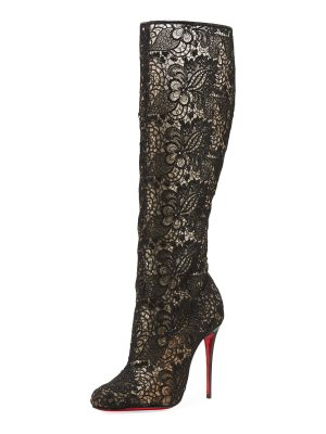 Christian Louboutin Tennissima Net Lace Red Sole Boot