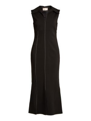 Christopher Kane Point-collar contrast-stitch cady dress
