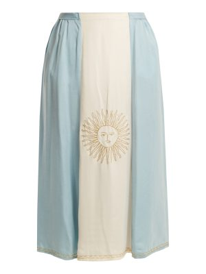 CHUFY Argentinian Flag-embroidered skirt