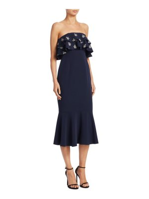 Cinq a Sept eza strapless midi dress