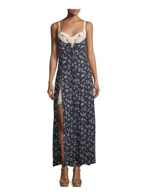 Cinq a Sept Jocelyn Sleeveless Floral-Print Layered Silk Dress