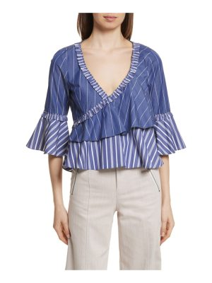 Cinq a Sept mixed stripe poplin top