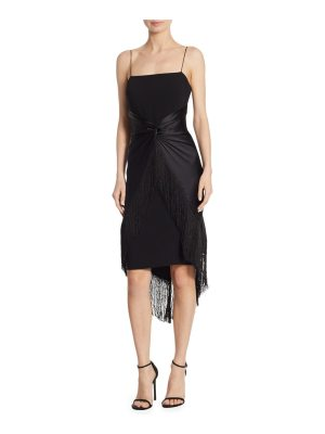 Cinq a Sept yolette fringe midi dress
