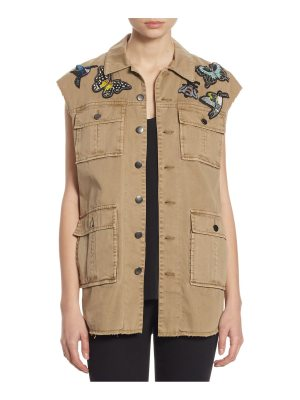 Cinq Sept Canyon Butterfly Patch Cotton Vest