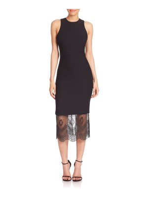 Cinq Sept Hestia Lace Hem Midi Dress
