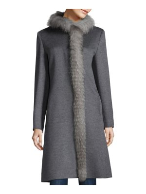 Cinzia Rocca fox fur wool coat