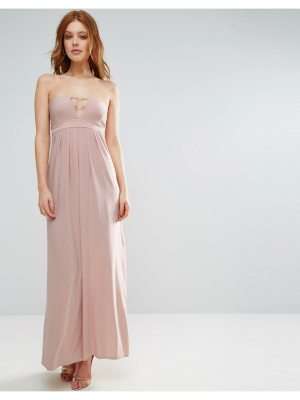 City Goddess Bandeau Maxi Dress With Strap Detail