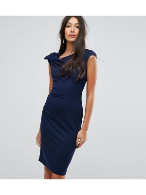 City Goddess Tall Bardot Pencil Dress With Lace Detail