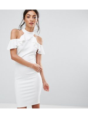 City Goddess Tall Pencil Dress With Ruffle Detail