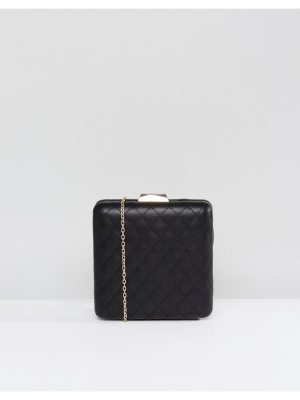 Claudia Canova Quilted Structured Clutch Bag