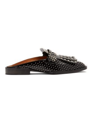 CLERGERIE Youla Jazz studded backless penny loafers