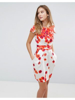 Closet London Closet Floral Tie Back Dress
