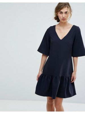 Closet London drop waist mini dress