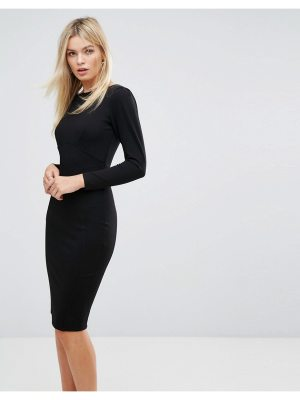 Closet London Midi Dress With Ruched Sleeve
