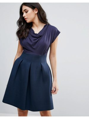Closet London Skater Dress With Ruched Neck