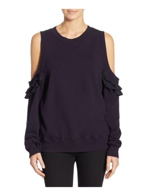 Clu pleated cold-shoulder pullover