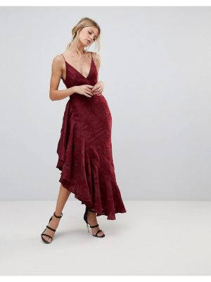 C/Meo Collective ember ruffle midi dress