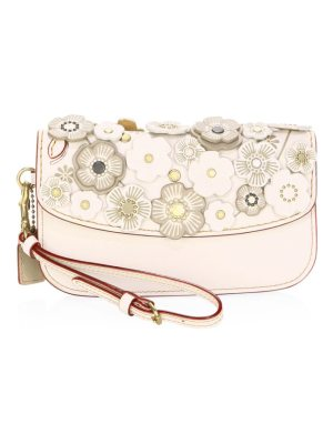 COACH 1941 floral leather clutch