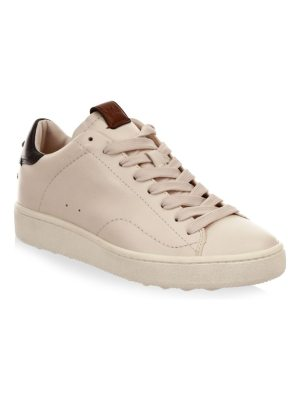COACH leather lace-up low-top sneakers