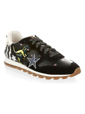 COACH metallic leather sneakers