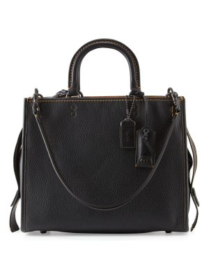 COACH Rogue Small Leather Tote Bag