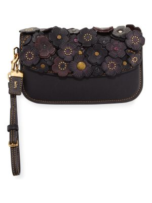 COACH Small Tea Rose Clutch Bag