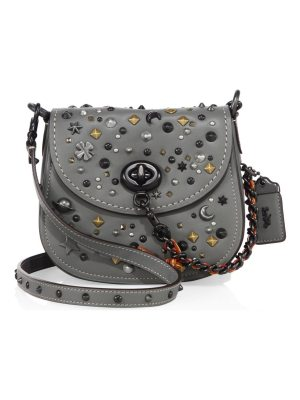 COACH 1941 stardust studded leather saddle bag