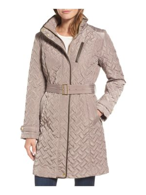 Cole Haan Signature belted quilted coat