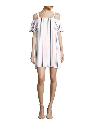 Collective Concepts Striped Cold-Shoulder Dress