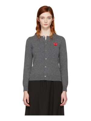 Comme Des Garçons Play and Red Heart Patch Cardigan