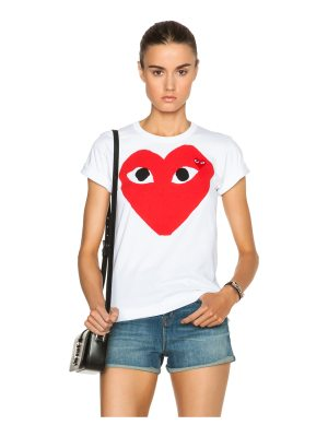 Comme Des Garcons PLAY Cotton Red Heart Emblem Tee