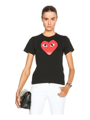 Comme Des Garcons PLAY Cotton Tee with Red Emblem