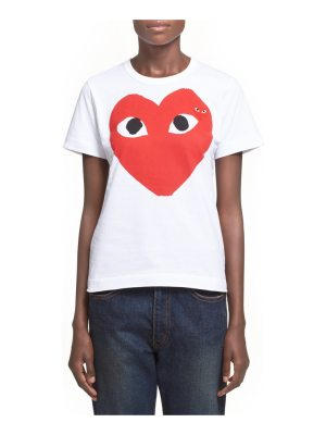 Comme Des Garcons PLAY graphic cotton tee