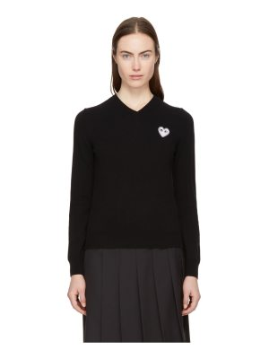 Comme Des Garcons PLAY heart patch v-neck sweater