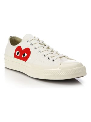 Comme Des Garcons PLAY peek-a-boo low-top canvas sneakers